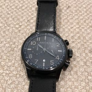 Other - Brera Orologi Black Leather Watch